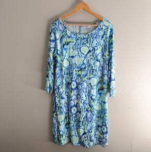 Lilly Pulitzer Pima Cotton Dress Blue Green